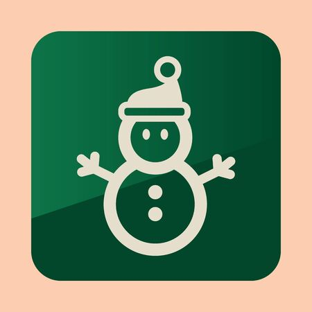 Snowman icon. Colorful flat presents for holiday. Christmas and New Year elements for decoration. Vector illustration eps 10 Фото со стока - 131713710