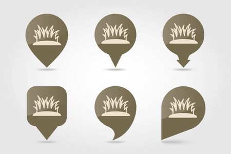 Grass flat pin map icon. Map pointer. Map markers. Farm. Garden. Vector illustration eps 10