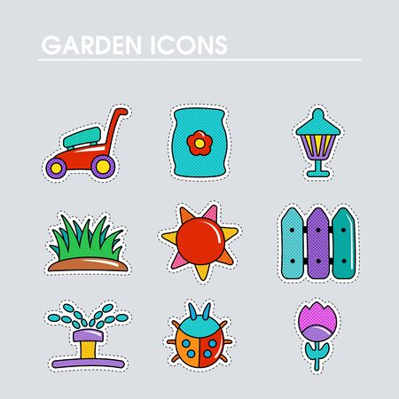 Garden Farm flat vector icon outline isolated. Graph symbol for your web site design