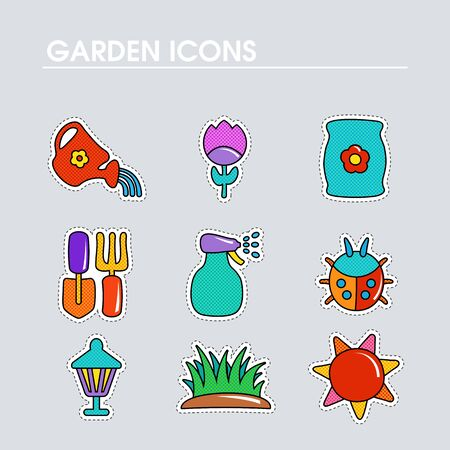 Garden Farm flat vector icon outline isolated. Graph symbol for your web site design,    app, UI. Vector illustration
