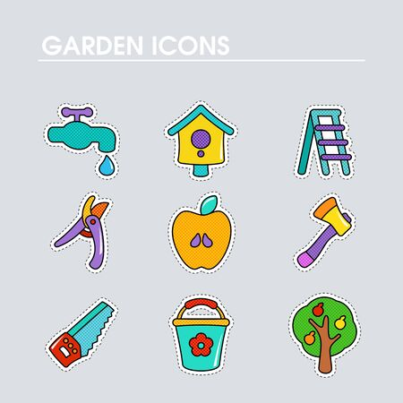 Garden Farm flat vector icon outline isolated. Graph symbol for your web site