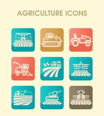 Farm Field icon. Agriculture transport sign. Graph symbol for your web site design