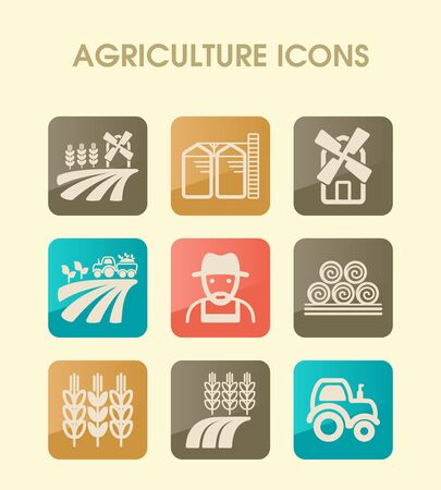 Farm Field icon. Agriculture sign. Graph symbol for your web site design