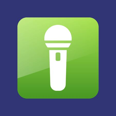 Microphone icon vector illustration. Musical sign Ilustracja