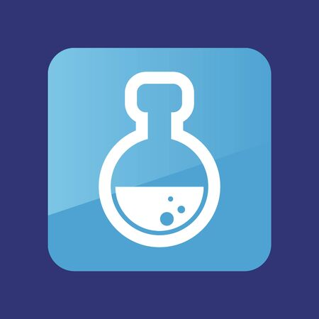 Flask flat icon. Medical vector. Graph symbol for your web site design