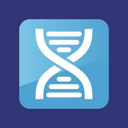 DNA flat icon. Medical vector. Graph symbol for your web site design 向量圖像