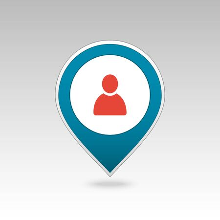 Location people pin map icon. Map pointer. Map markers. Destination vector icon. GPS location symbol. Mapping pins icon   vector file Ilustrace