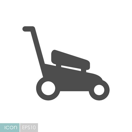 Lawn Mowers flat icon. Garden sign. Graph symbol for your web site design