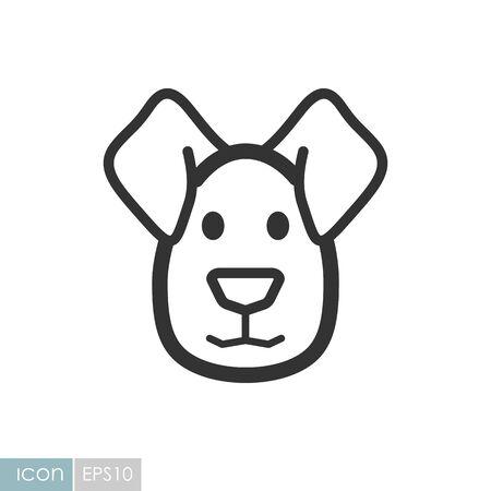 Dog icon. Farm animal vector illustration Illusztráció