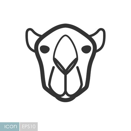 Camel icon. Animal head vector symbol eps 10  イラスト・ベクター素材
