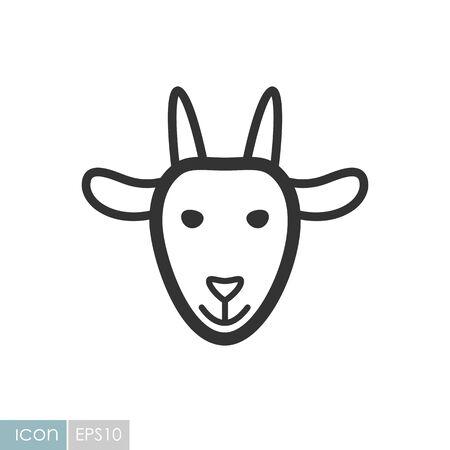 Goat icon. Farm animal vector illustration