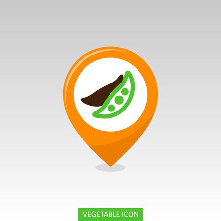 Pea flat vector pin map icon. Map pointer. Map markers.