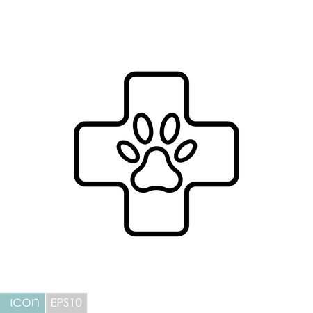 Veterinary vector icon. Pet animal sign. Graph symbol for pet and veterinary web site and apps