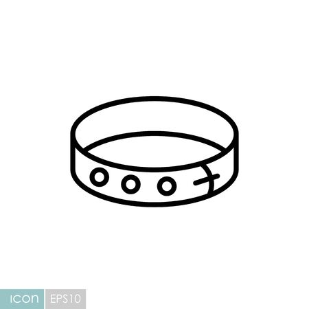 Pet collar vector icon. Pet animal sign. Graph symbol for pet and veterinary web site Иллюстрация