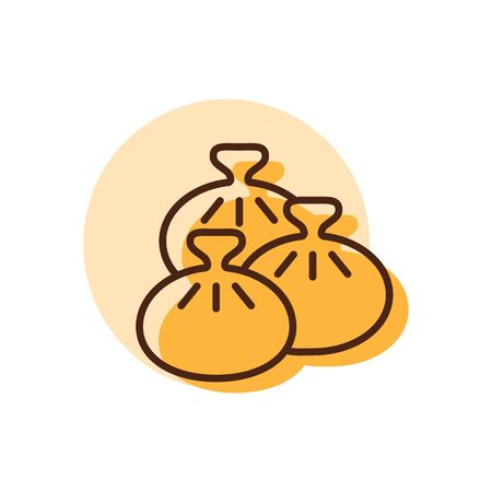 Khinkali vector icon. Fast food sign. Georgian national food. Graph symbol for cooking web site and apps design,  app, UI