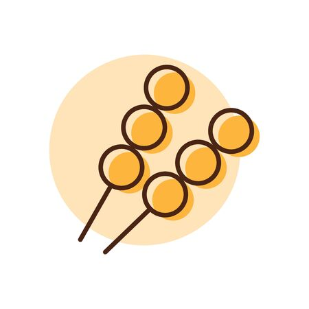 Meat balls vector icon. Fast food sign. Graph symbol for cooking web site and apps design,  app, UI