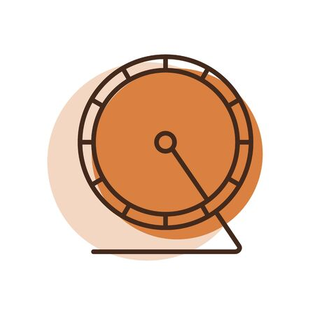 Hamster wheel vector icon. Pet animal sign. Graph symbol for pet and veterinary web site and apps design, app, UI