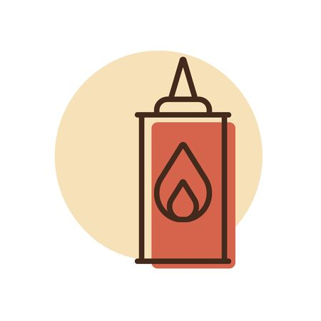 Coaling fluid vector icon. Barbecue and bbq grill sign. Graph symbol for cooking web site and apps design,  app, UI