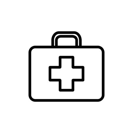First aid kid vector icon. Medicine and healthcare, medical support sign. Graph symbol for medical web site and apps design,   app, UI