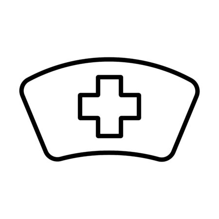 Nurse hat vector icon. Medicine and healthcare, medical support sign. Graph symbol for medical web site and apps design,   app, UI
