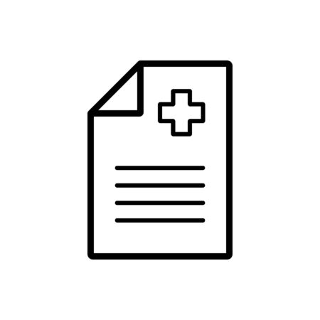 Medical report, clinical record vector icon. Medicine and medical support sign. Graph symbol for medical web site and apps design,   app, UI Ilustração