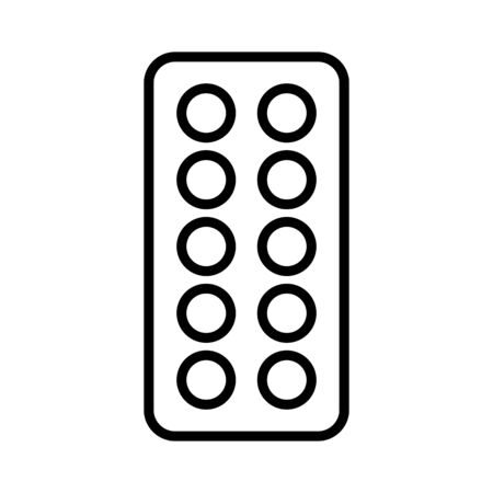 Pills strip vector icon. Medicine and healthcare, medical support sign. Graph symbol for medical web site and apps design,   app, UI