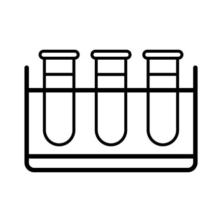 Test tubes vector icon. Medicine and healthcare, medical support sign. Graph symbol for medical web site and apps design,   app, UI
