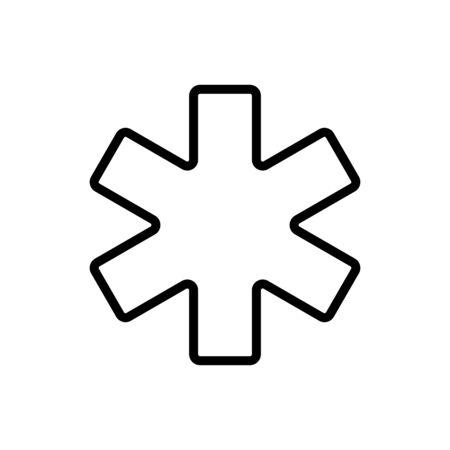 Medical Emergency Care glyph vector icon. Medicine and medical support sign. Graph symbol for medical web site and apps design,  app, UI Ilustração