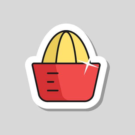 Lemon squeezer vector icon. Kitchen appliance. Graph symbol for cooking web site design, logo, app, UI