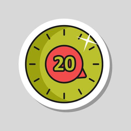 Timer vector icon. Kitchen appliance. Graph symbol for cooking web site design, logo, app, UI 向量圖像