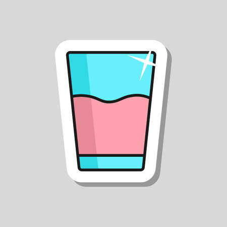 Glass of water vector icon. Kitchen appliance. Graph symbol for cooking web site design, logo, app, UI