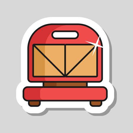 Kitchen sandwich maker vector icon. Electric kitchen appliance. Graph symbol for cooking web site design, logo, app, UI Ilustrace