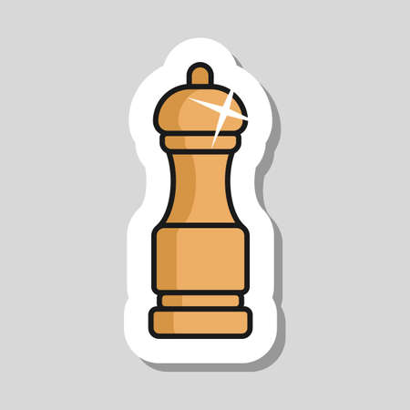 Pepper mill spice grinder vector icon. Kitchen appliance. Graph symbol for cooking web site design, logo, app, UI Иллюстрация