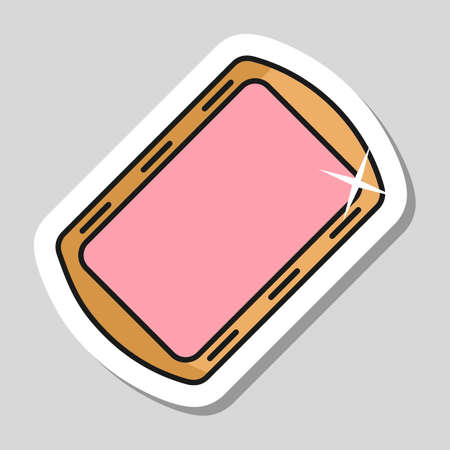 Pan tray for cooking and baking in oven vector icon. Kitchen appliance. Graph symbol for cooking web site design, logo, app, UI