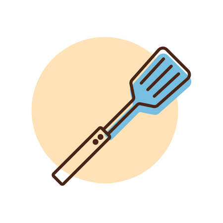 Kitchen spatula vector icon. Kitchen appliance. Graph symbol for cooking web site design,  app, UI