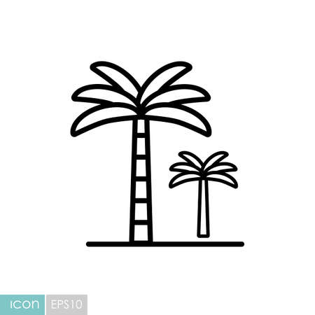 Palm tree vector icon. Nature sign. Graph symbol for travel and tourism web site and apps design