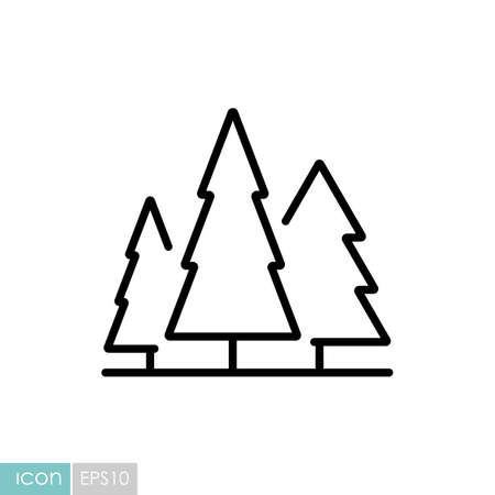 Conifer forest vector icon. Nature sign. Graph symbol for travel and tourism web site and apps