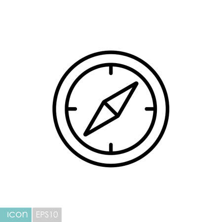 Compas vector icon. Navigation sign. Graph symbol for travel and tourism web site and apps design,   app, UI