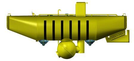 Deep sea submarine isolated