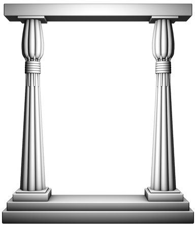 Columns frame Stok Fotoğraf
