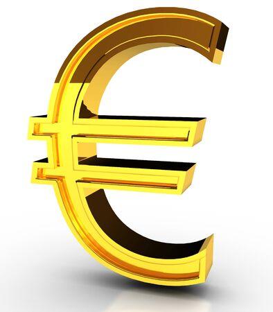 Golden Euro symbol Stok Fotoğraf