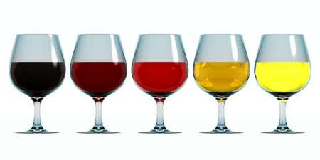 Kleuren van wijn