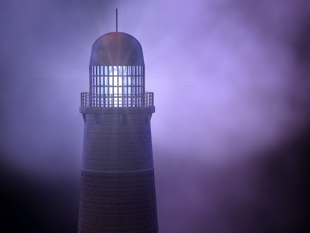 iluminate: Lighthouse in the storm Stock Photo
