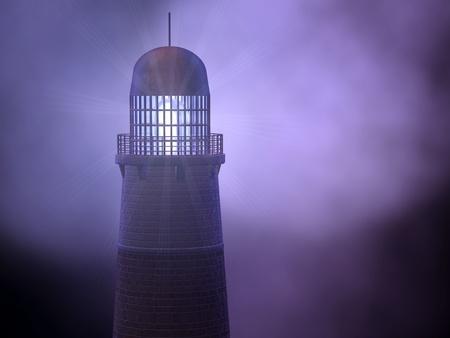 Lighthouse in the storm Stok Fotoğraf