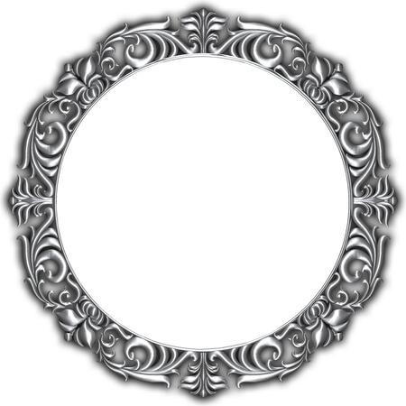 Silver frame isolated
