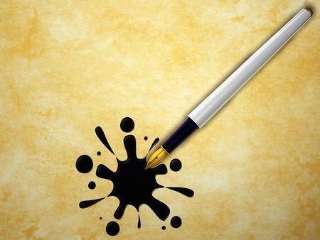 Pen and splash