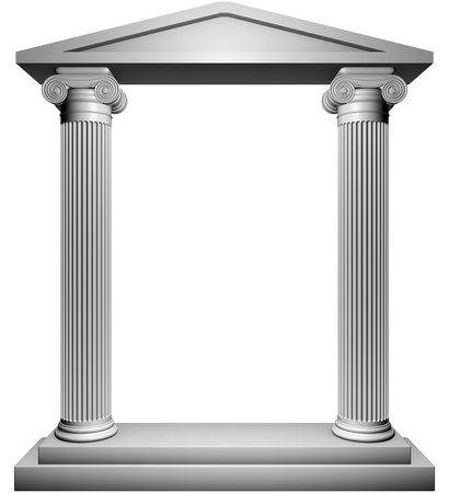 greek columns: Ionic frame