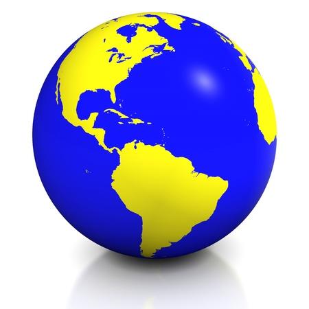 enviromental: Planet earth balloon Stock Photo