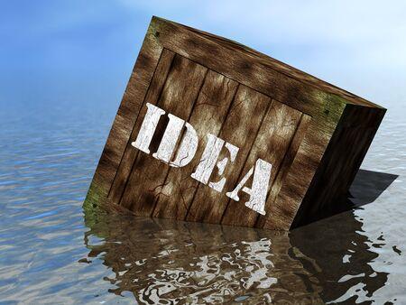 Idea box on the beach Stok Fotoğraf