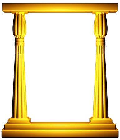 Egypt columns gold frame